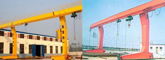L type single gantry crane