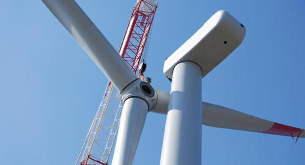 wind turbine blades installation